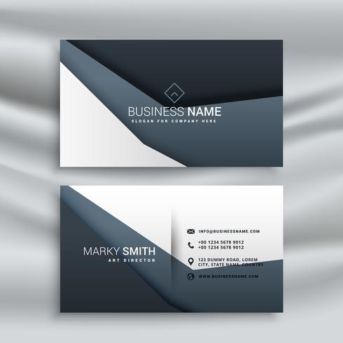 gray business card with modern shapes