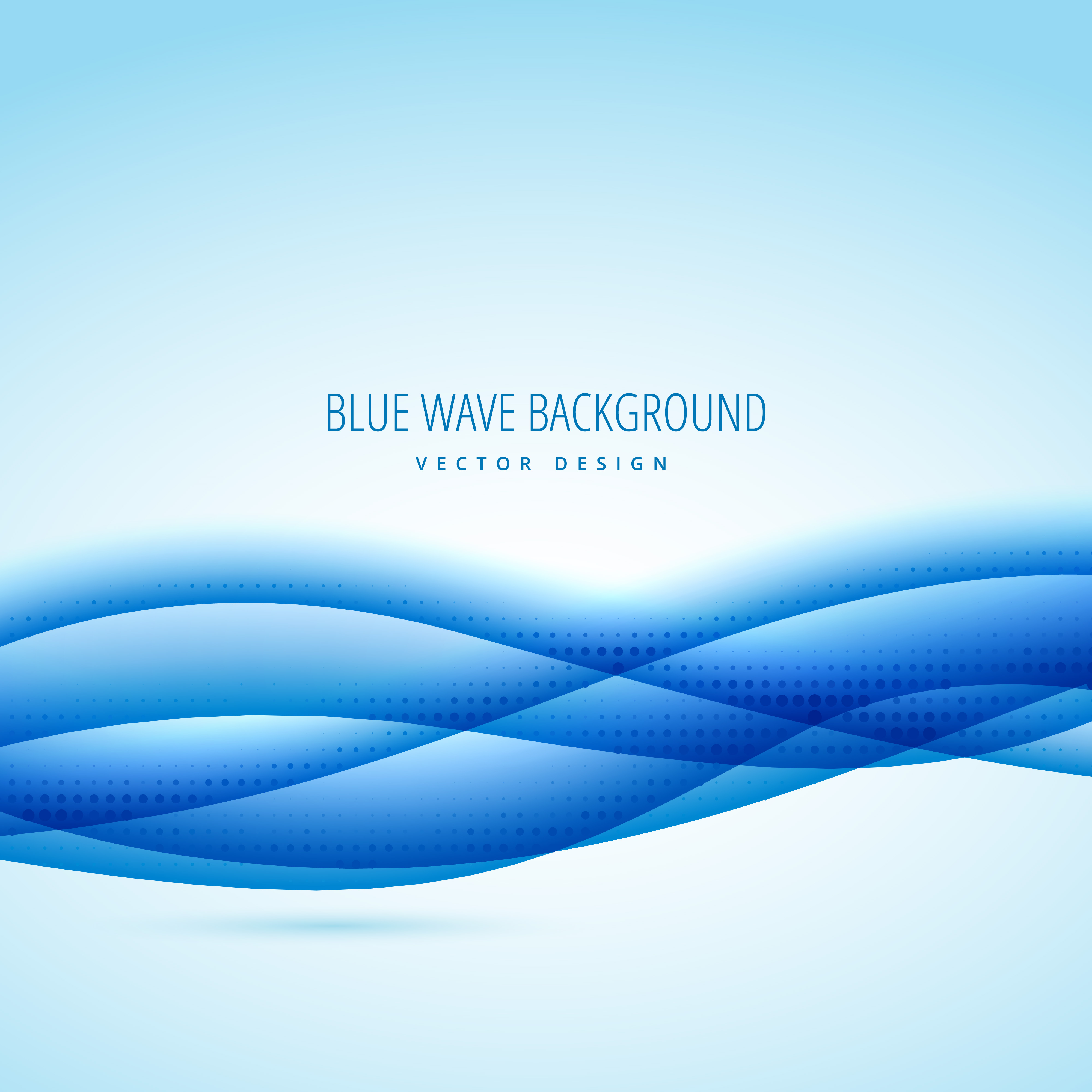 abstract blue wave des...