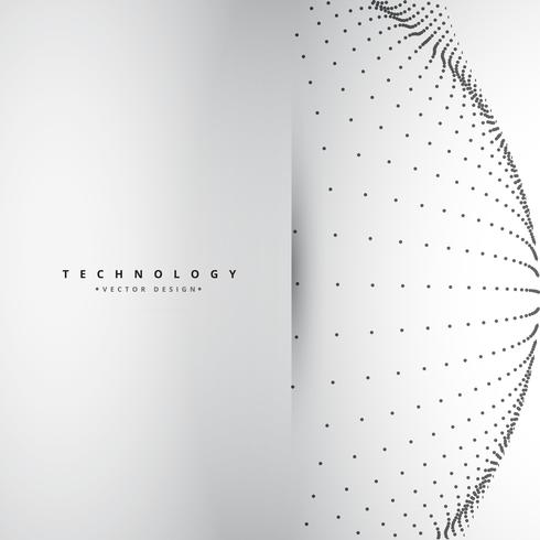circular mesh in technology style vector design illustration