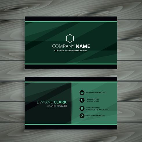 green dark business card template vector design illustration