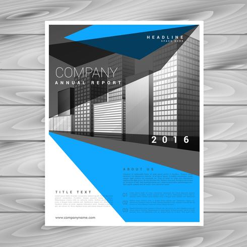 creative blue brochure flyer template for your business in abstr