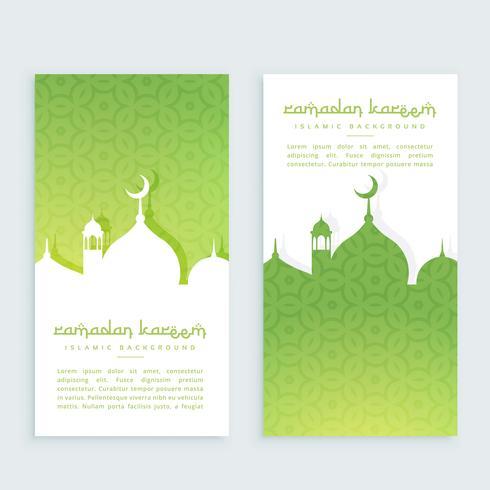Ramadan Festival vertikale Banner