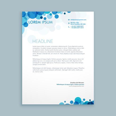 letterhead creative business template vector design illustration