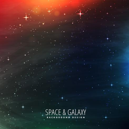 space with stars and colorful lights