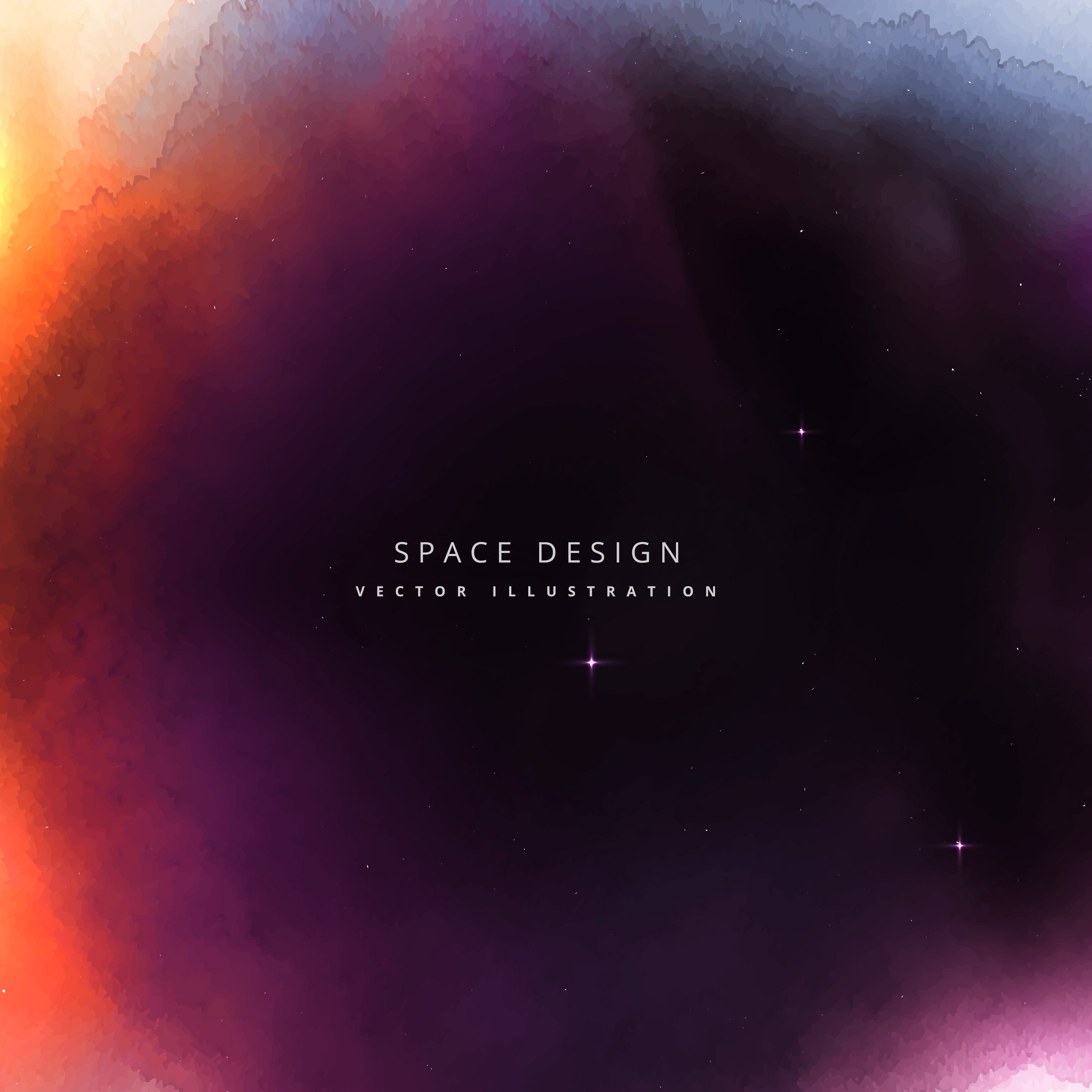 Colorful space vector design background download free for Space art design