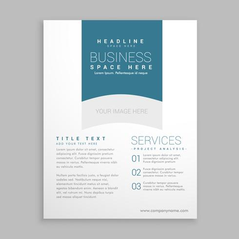clean white brochure flyer design vector
