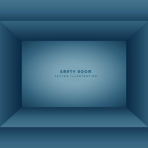 clean empty room in blue color