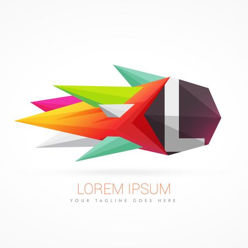 colorful abstract logo with letter L