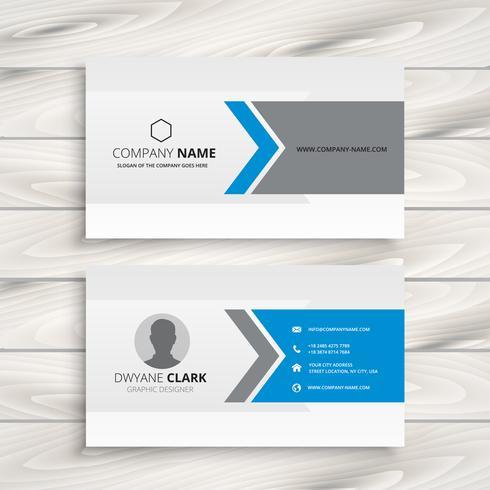 clean white business card design vector design illustration