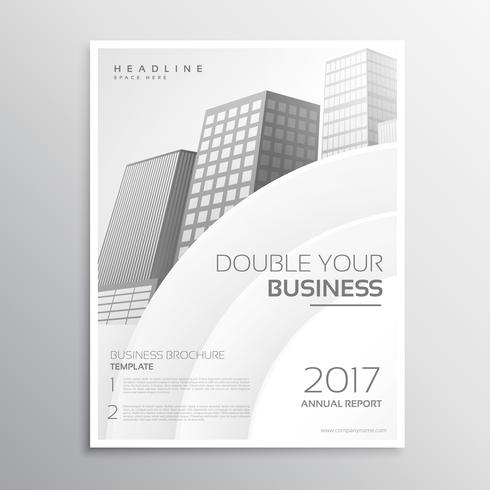 clean white business brochure template design