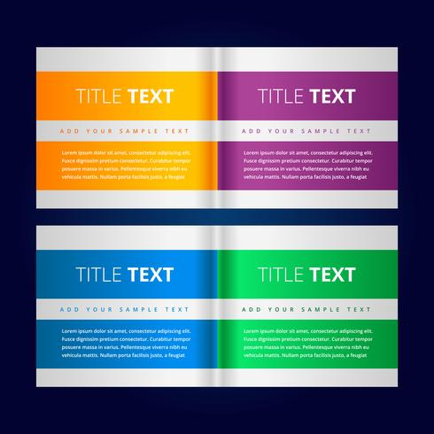 creative banners in infographic style