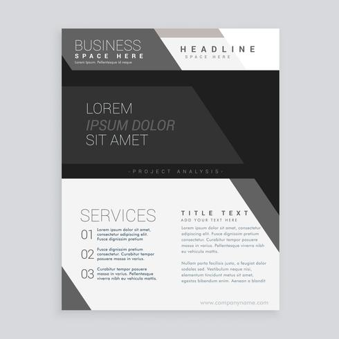 black business brochure vector design template
