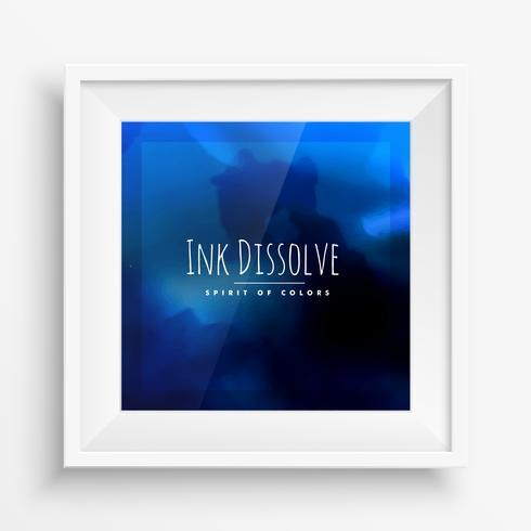 blaues Tinte Plakat