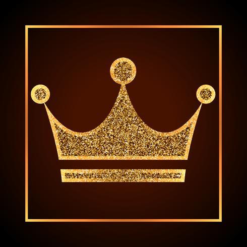 gyllene prickar krona