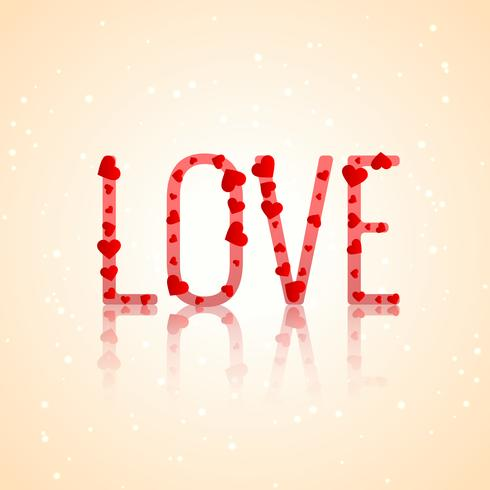 love typography with hearts vector design illustration