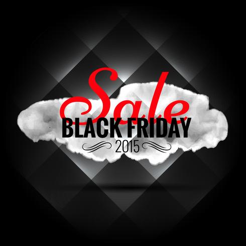 black friday sale banner in dark background