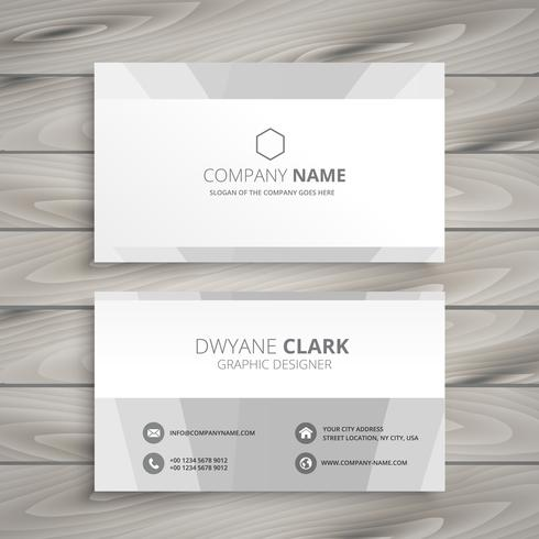 minimal white business card template vector design illustration