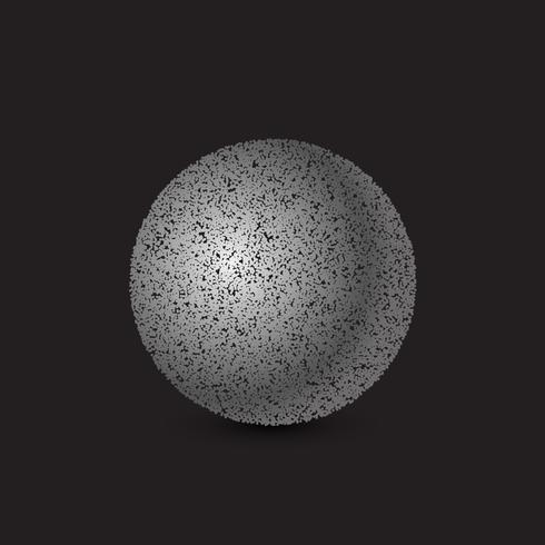 3d sphere made with dots