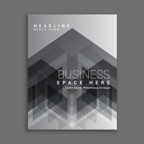 black abstract business magazine cover template