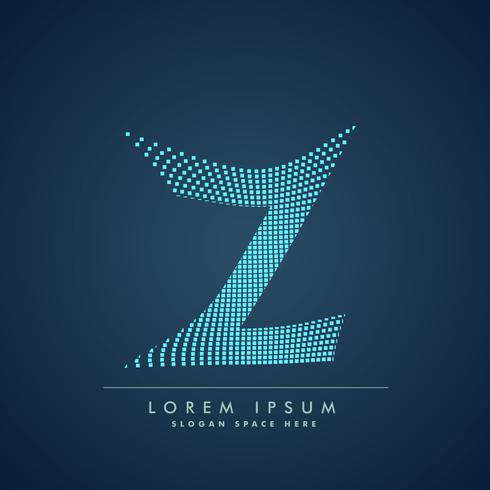 abstract creative dots logo letter Z