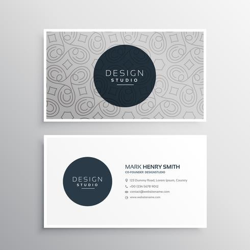 beautiful abstract pattern business card design in light gray co