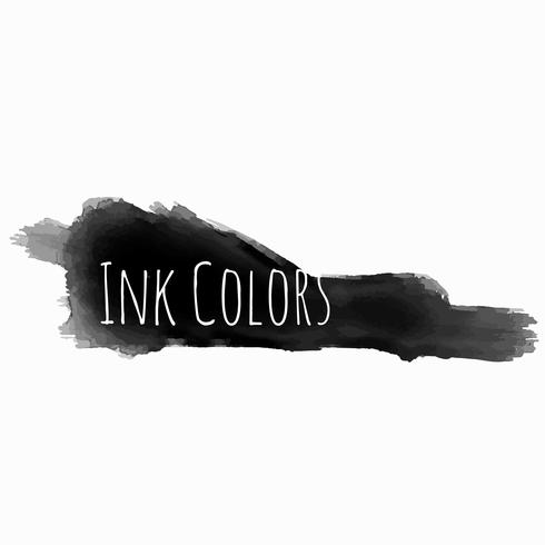black ink color grunge vector design illustration