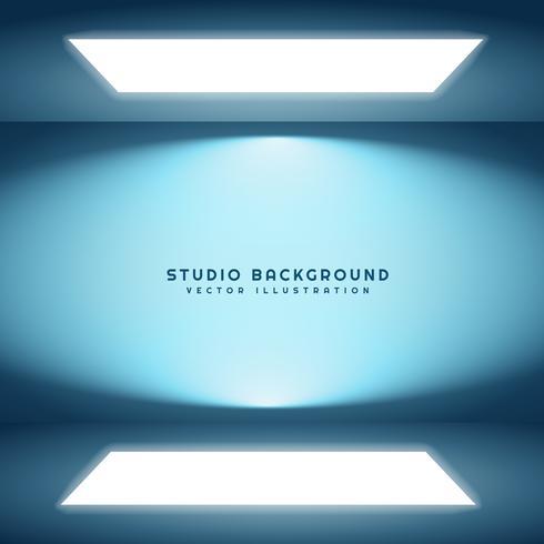 room with studio lights