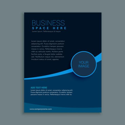 business brochure template in dark blue shade