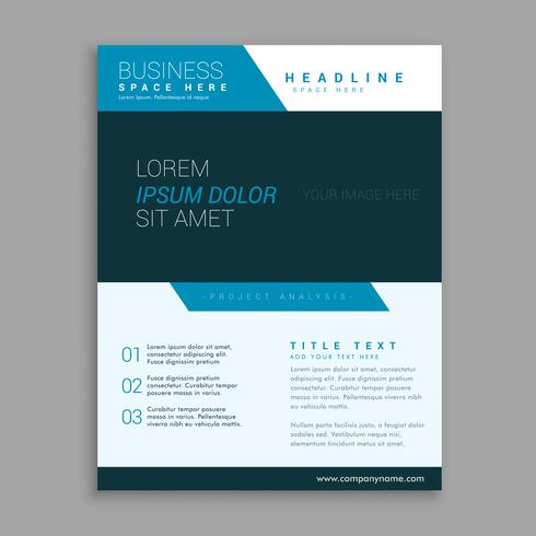 blue modern company brochure vector design