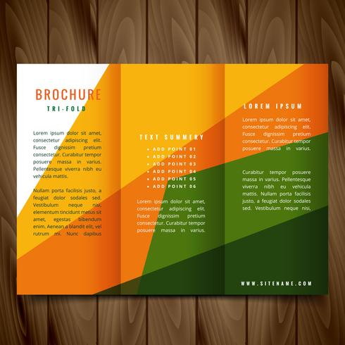 colorful shapes vector trifold brochure design