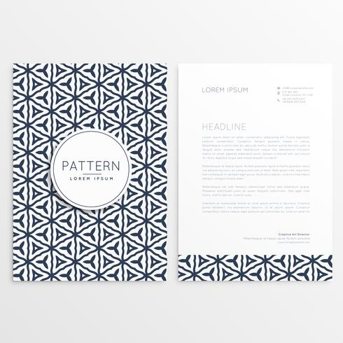 stylish letterhead design with abstract pattern