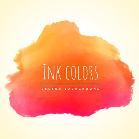 orange ink color paint vector design illustration