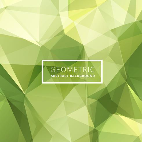 green abstract poly background
