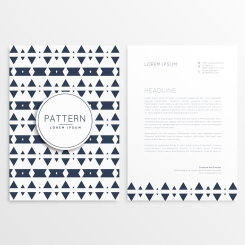 abstract aztec style letterhead template