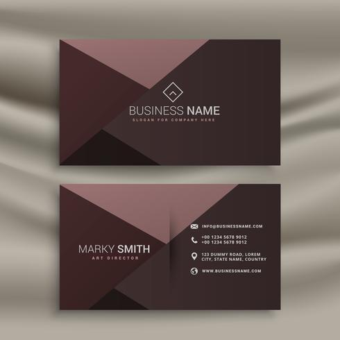 Professional Dark Business Card Design Template Download Free - Business card design templates