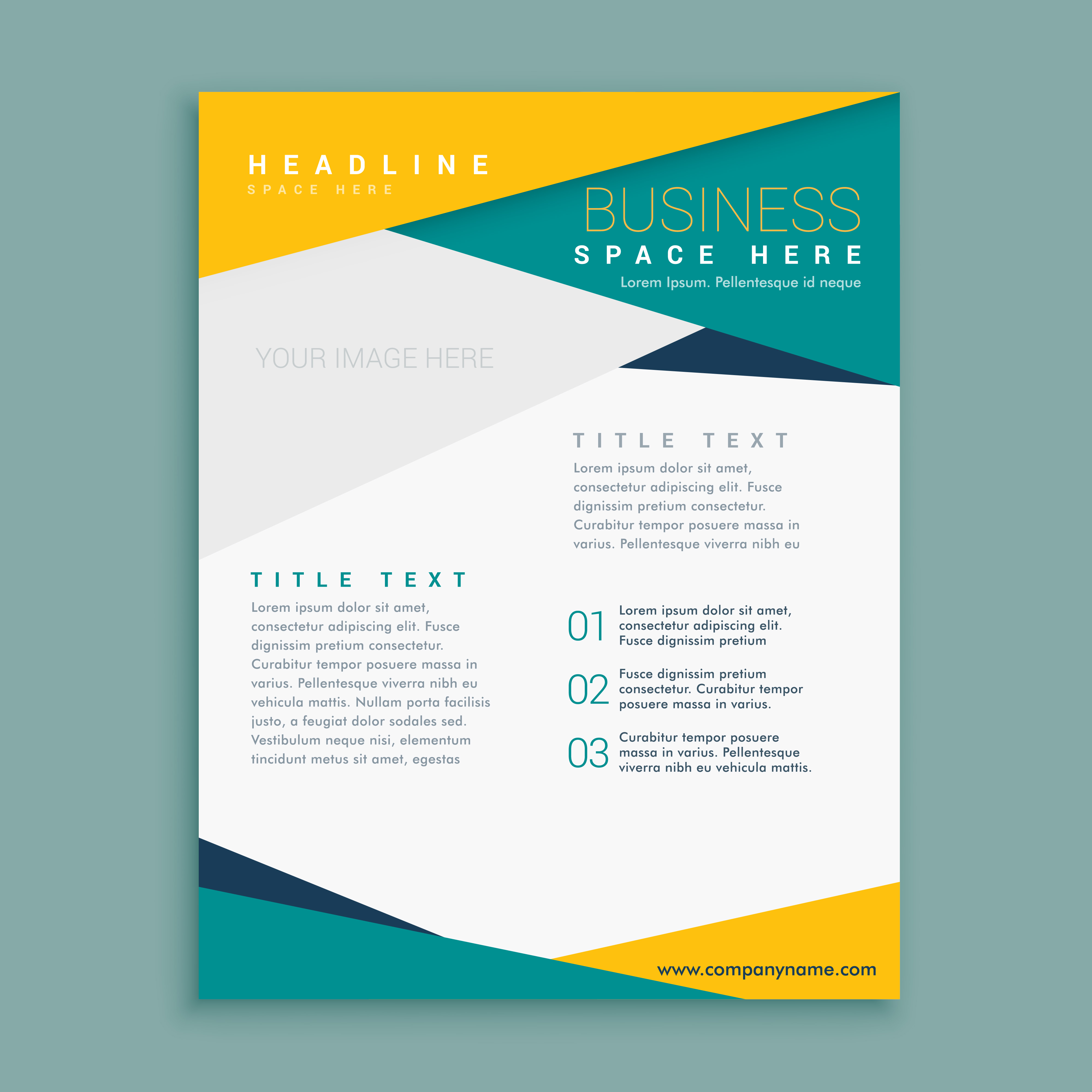 business brochure page presentaton template download