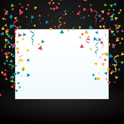 confetti with white display board