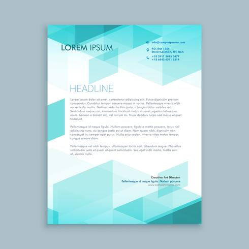 creative modern letterhead template with abstract shapes
