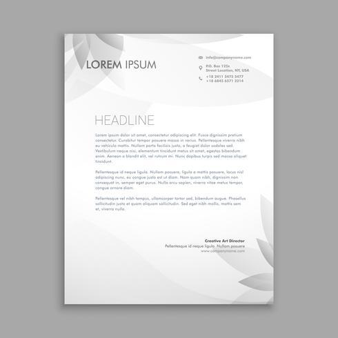 creative flower letterhead  template vector design illustration