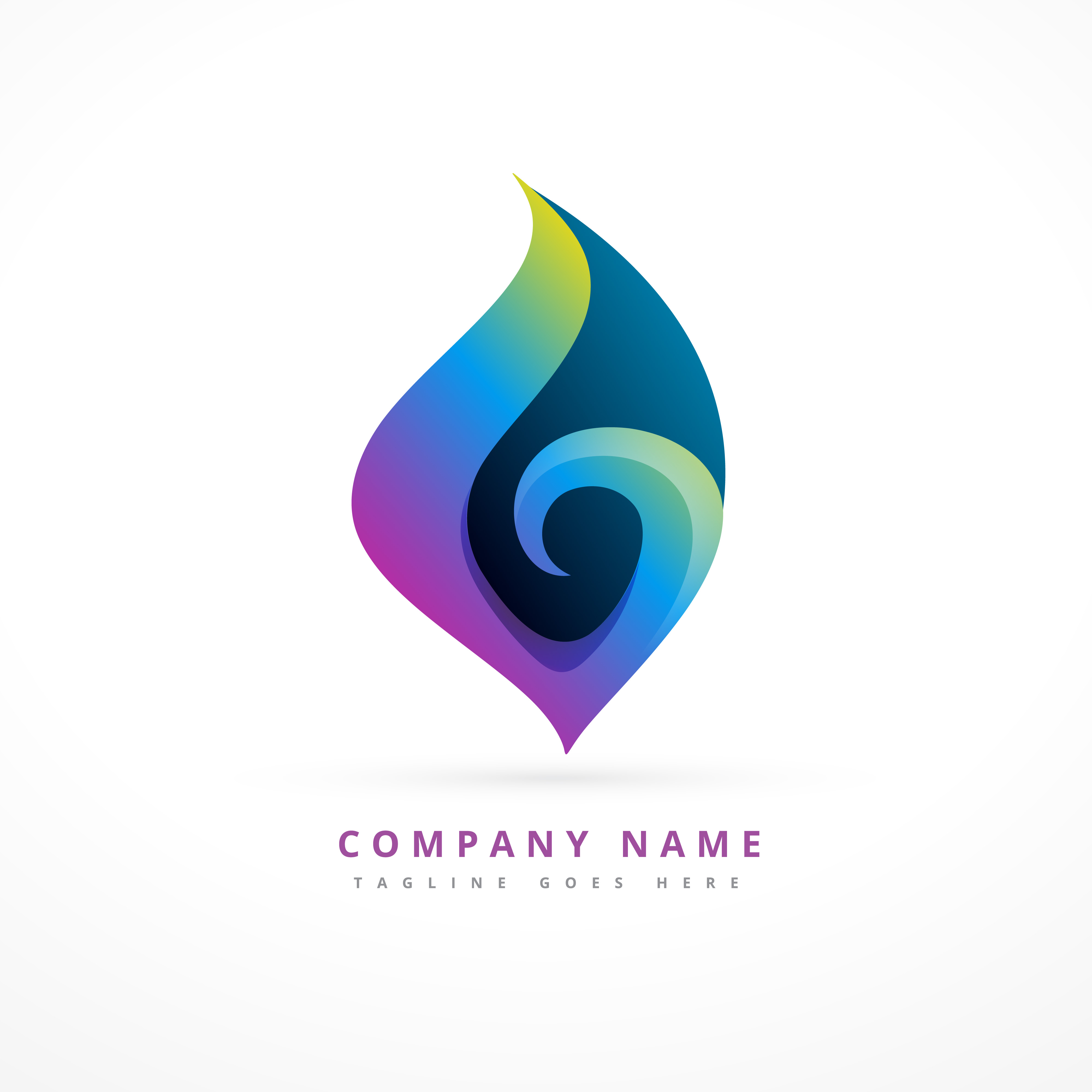 Abstract Logotype Collection: Colorful Abstract Floral Logo Template Design
