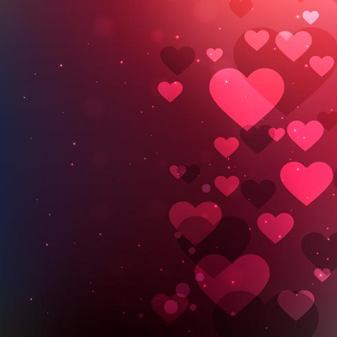 hearts background for valentines day vector design illustration