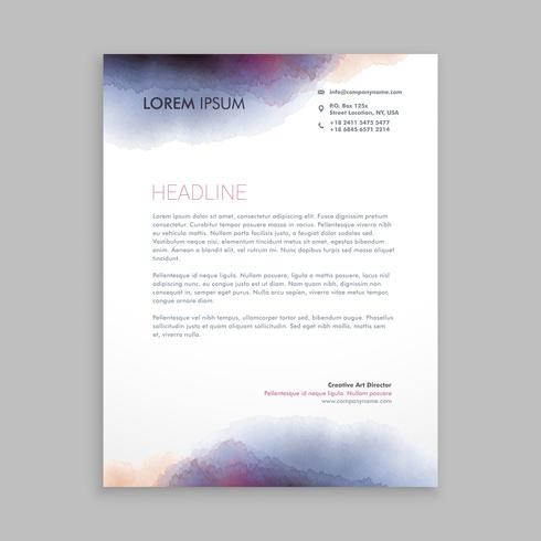 beautiful creative letterhead  template vector design illustrati