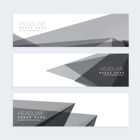 abstract black and white banners