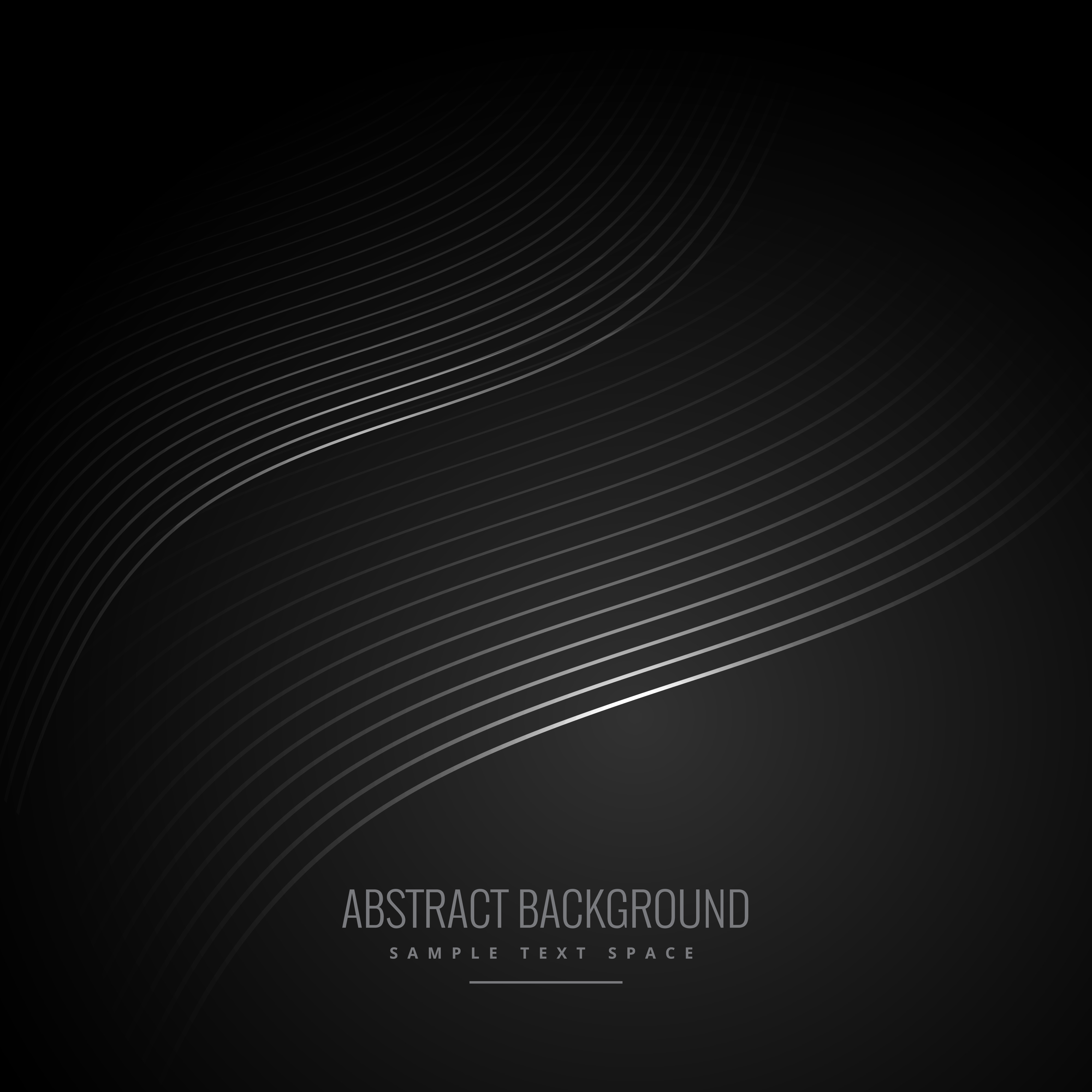 abstract black background with wave lines - Download Free ...