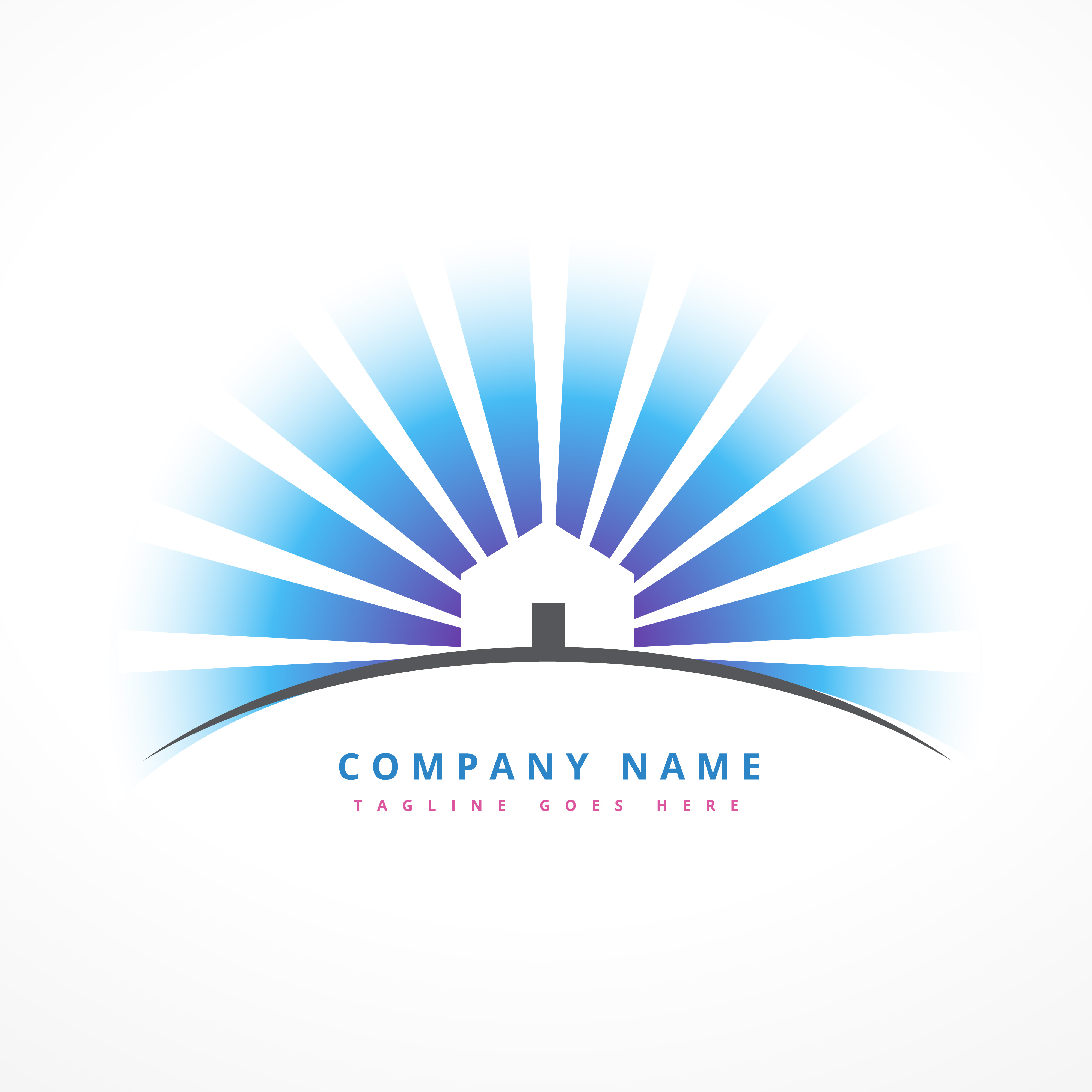 House with sun rays company logo design download free for Design lago