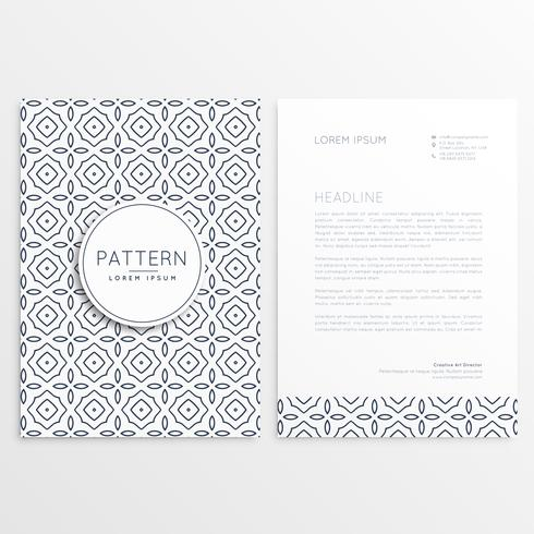 company leaflet template with pattern shapes
