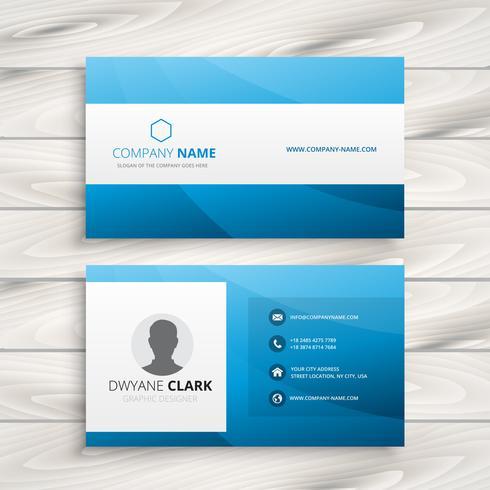 blue visit card template vector design illustration