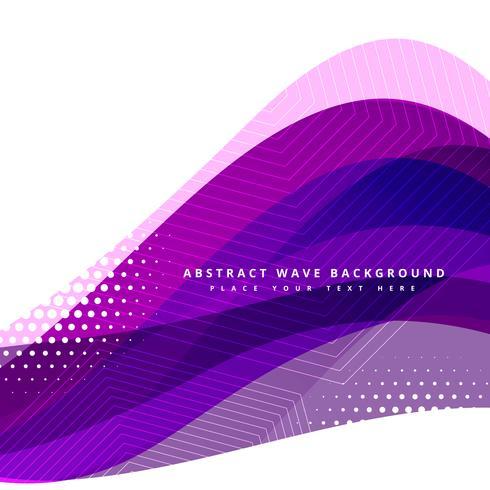 vector de diseño de fondo ondulado púrpura