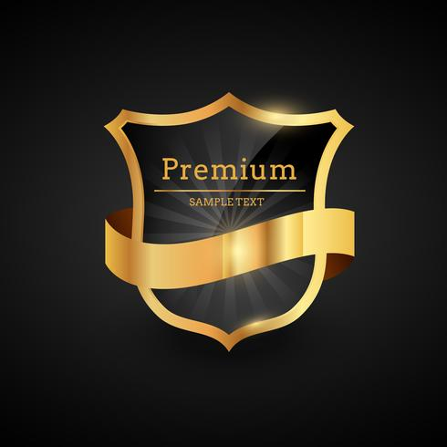 premium luxury golden label design illustration