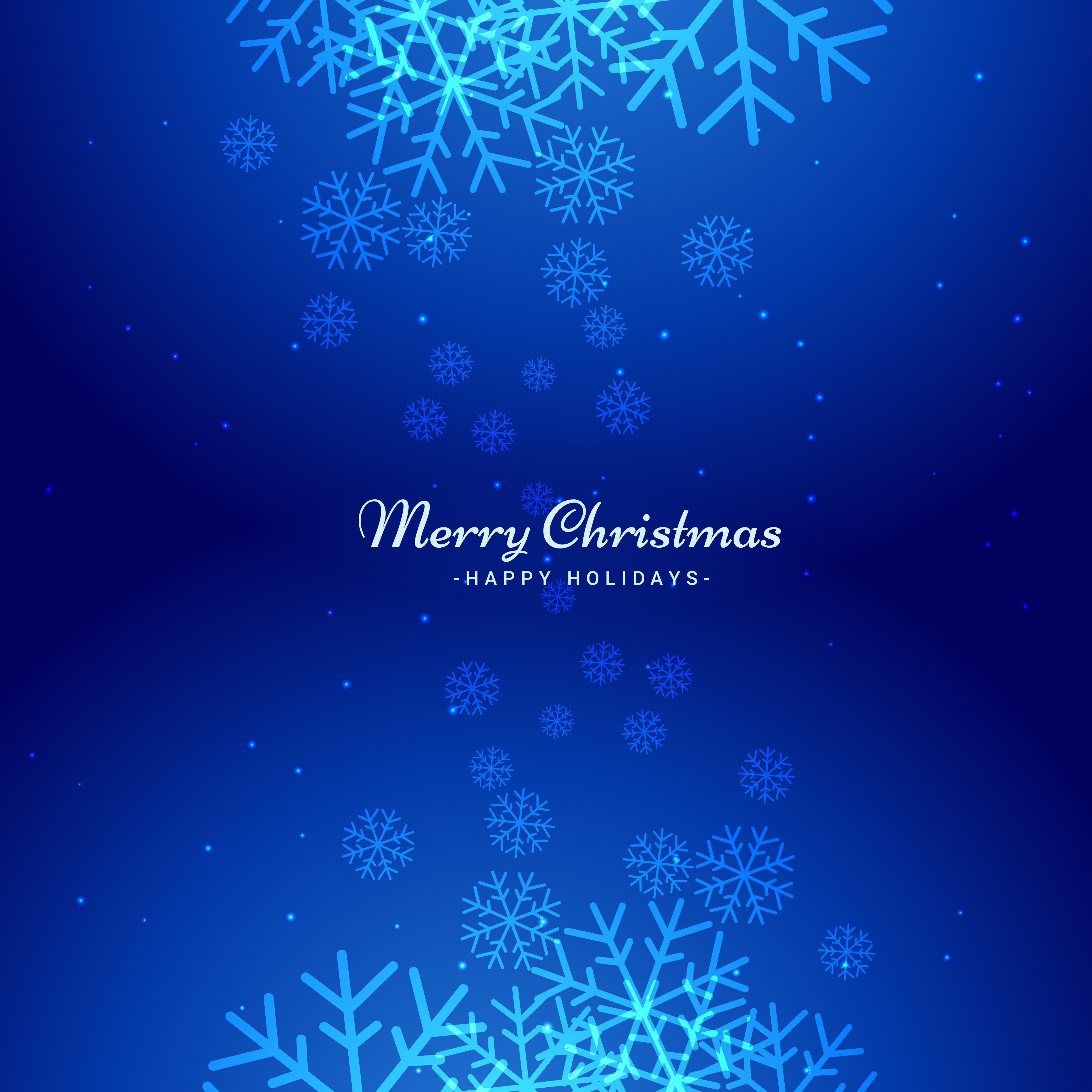 Winter Christmas Snowflakes Background Download Free